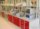 Red And White Modular Laboratory Furniture Heavy Duty Workbench M-0002RW